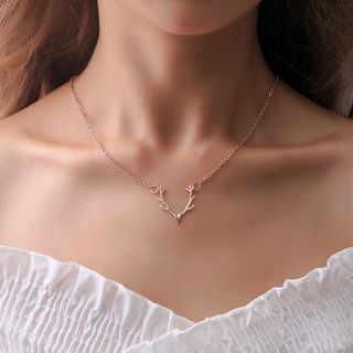 Image of Alloy Deer Pendant Necklace As Shown In Figure - One Size