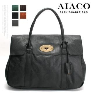 Buy AIACO Faux-Leather Twist-Lock Tote 1021617845