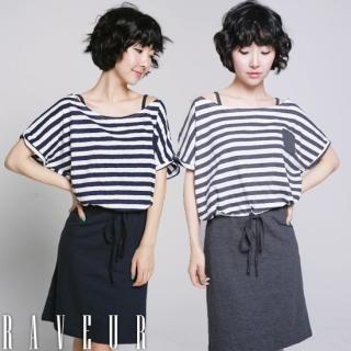 Buy Raveur Set: Short-Sleeve T-Shirt + Slipdress 1022828526