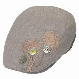 Buy GRACE Button-Detail Embroidered Hunting Cap Brown – One Size 1022099754
