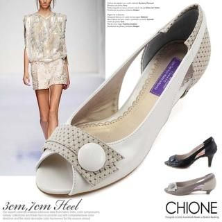 Picture of Chione Open-Toe Pumps 1022595322 (Pump Shoes, Chione Shoes, Korea Shoes, Womens Shoes, Womens Pump Shoes)