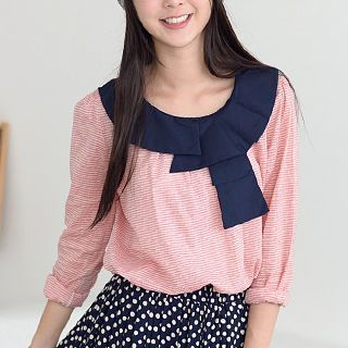 Striped Long-Sleeve Top 1036666193