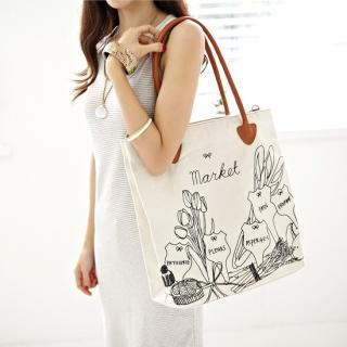 Buy Alice Room Print Canvas Shoulder Bag 1022989619