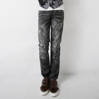 Picture of ISNOM Acid Wash Jeans 1022250092 (ISNOM, Mens Denim, Korea)