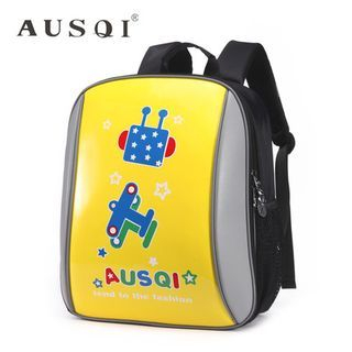 Kids Leather Printed Backpack