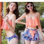 Set: Floral Bikini + Skirt 1596