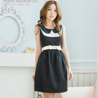 "Buy Tokyo Fashion Peter Pan-Collar ""Bow"" Panel Dress 1023062641"