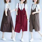 Pocketed Midi Pinafore Dress 1596
