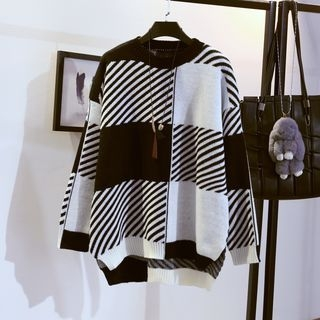 Plaid Long Sweater 1063933158