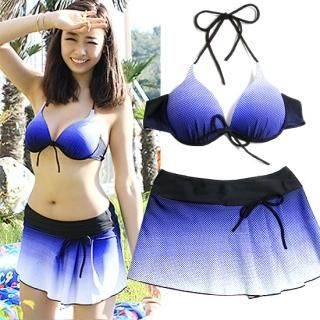 Buy Soneed Set: Gradient Bikini + Skirt 1022881887