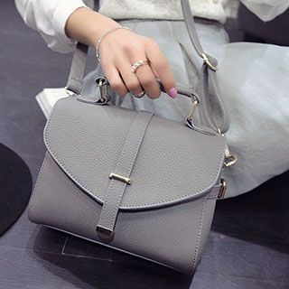 Faux Leather Flap Handbag 1048760903