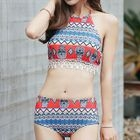 Set: Patterned Halter Bikini + Shorts 1596