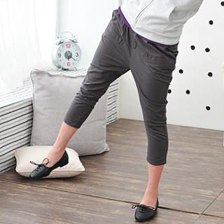Picture of 59 Seconds Slim-Fit Cropped Pants Gray - One Size 1022500306 (Womens Slim-Fit Pants, Womens Cropped Pants, 59 Seconds Pants, Hong Kong Pants)