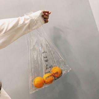 Lettering Transparent Tote Bag 1066667095