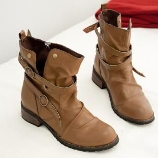 Picture of Cookie 7 Strap Ankle Boots 1021549062 (Boots, Cookie 7 Shoes, Korea Shoes, Womens Shoes, Womens Boots)
