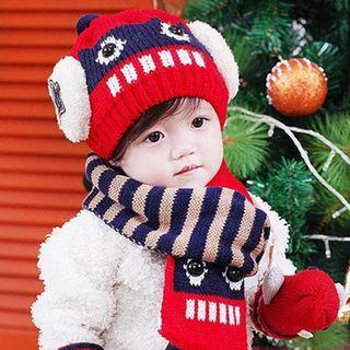 kids-set-robot-beanie-pompom-scarf