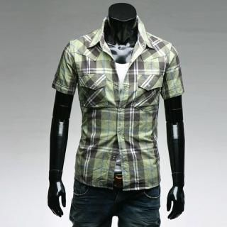 Buy Style YOURS Short-Sleeve Plaid Shirt 1022557253