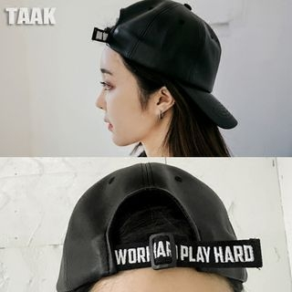 faux-leather-lettering-baseball-hat