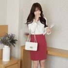Plain Pencil Skirt 1596