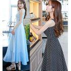 Strappy A-line Maxi Dress 1596