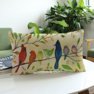 Image of Floral Print Sofa Cushion Cover