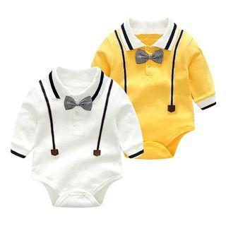 Baby Bow Long-Sleeve Bodysuit