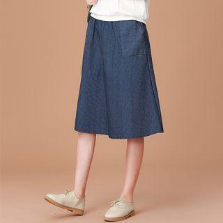 Grayce Striped A-Line Midi Skirt