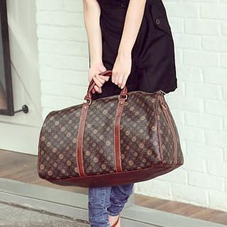 Patterned Boston Bag