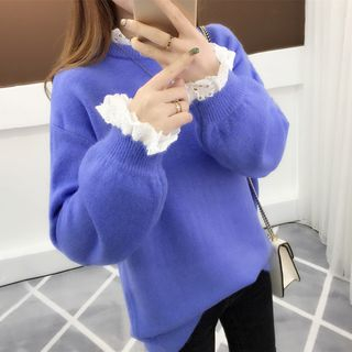 Image For Long-Sleeve Knit Top