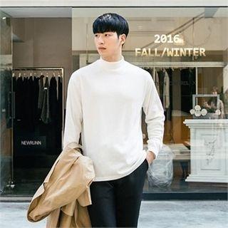 Long-Sleeve Mock-Neck T-Shirt 1053815773