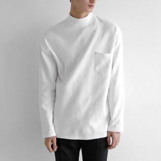 Mock-Neck Long-Sleeve T-Shirt 1055247086