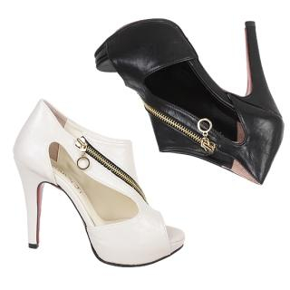 Picture of NamuDDalgi Zip Detail Platform Pumps 1022415527 (Pump Shoes, NamuDDalgi Shoes, Korea Shoes, Womens Shoes, Womens Pump Shoes)