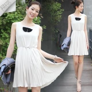 Buy Mango Ribbon Sleeveless Dress 1022991066