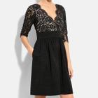 Long-Sleeve Lace A-line Dress 1596