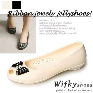Picture of Wifky Beaded Jelly Flats 1022821278 (Flat Shoes, Wifky Shoes, Korea Shoes, Womens Shoes, Womens Flat Shoes)