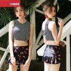 Set : Print Tankini + Swim Skirt 1596