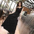 Sleeveless Fringe Maxi Dress 1596