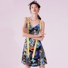 Printed A-line Strappy Dress 1596