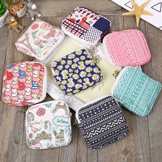 Image of Cotton Blend Zip Pouch