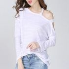 Cutout Shoulder Long-Sleeve T-Shirt 1596