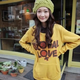 Buy CLICK Inset Hood Printed Pullover 1021614190