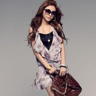 Buy PUFFY Tie-Dye V-Neck Dress 1022890331