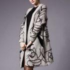 Furry Applique Long Cardigan 1596