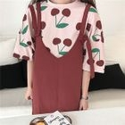 Elbow-Sleeve Printed T-Shirt / Pinafore Dress 1596