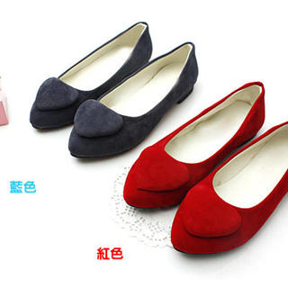 Buy KAWO Heart-Accent Pointy Flats 1022759136