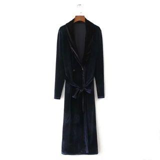 Long-Sleeve Tie-Waist Dress 1062806600
