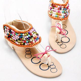 Buy Kvoll Beaded Thong Sandals 1022979419