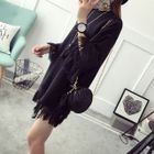Fringed Tunic Long Sweater 1596