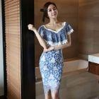 Ruffle Short-Sleeve Dress 1596