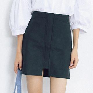 Plain A-Line Skirt 1056027910